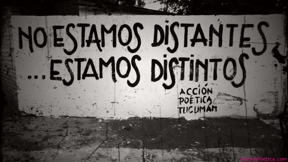 No estamos distantes... Estamos distintos