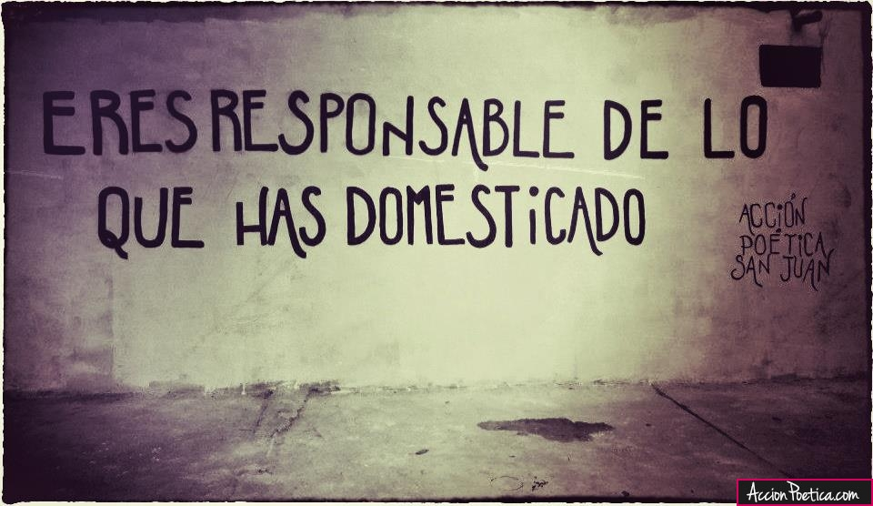 Eres responsable de lo que has domesticado